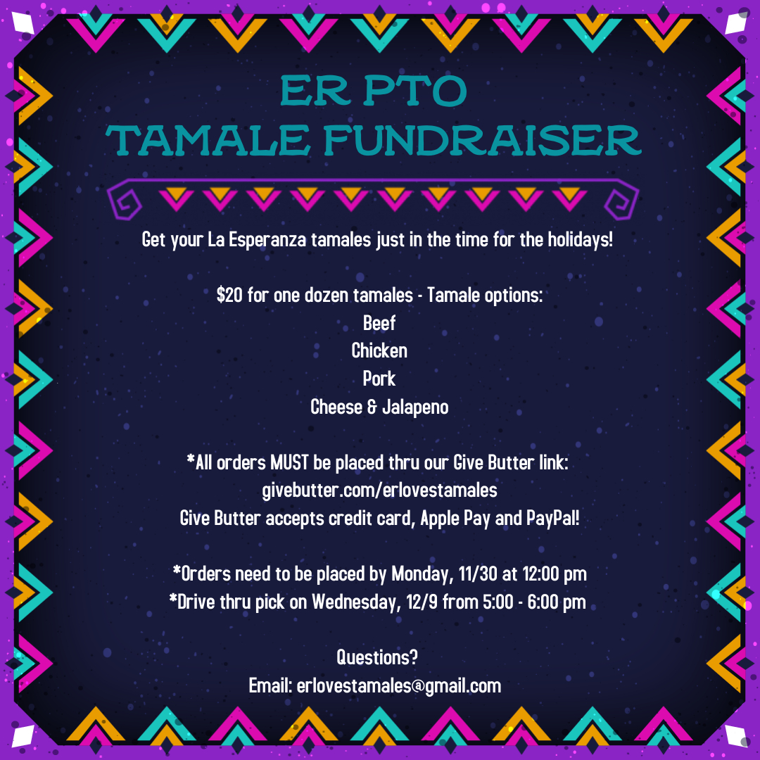 Drive Thru Pickup for Tamale Fundraiser @ Elliott Ranch Elementary drive thru/drop off loop